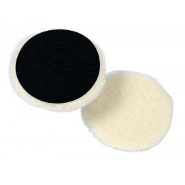 Prewashed White Lambswool Knitted Polishing Pad