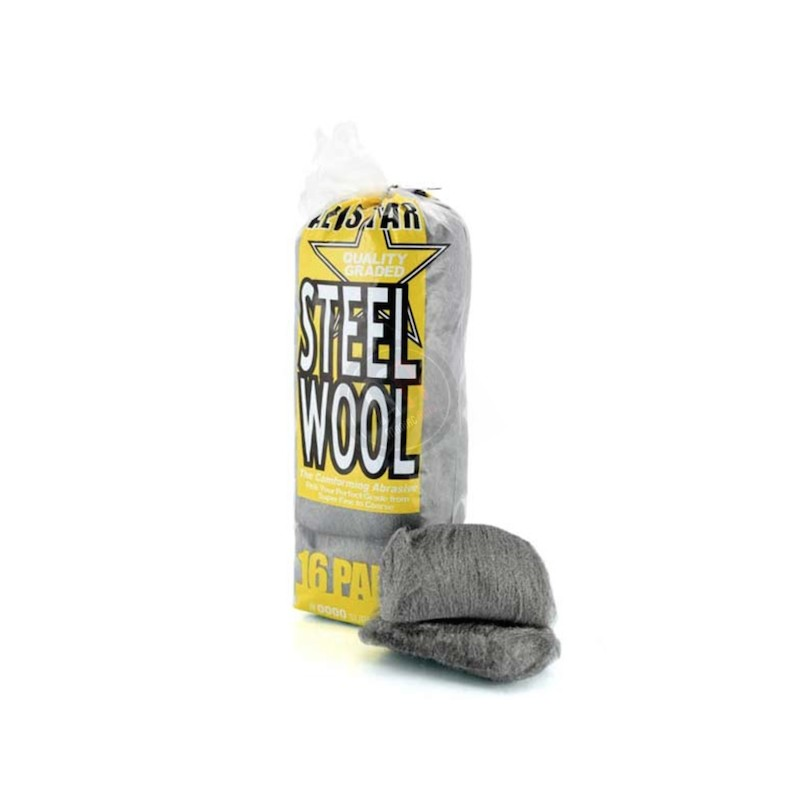 0000 Steel Wool Wax: Extra Fine Allstar Steel Wool Pads 0000
