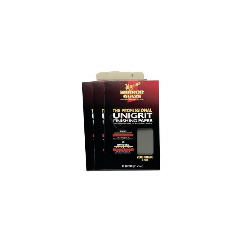 meguiars unigrit finishing 2500 paper 1 feuille meguiar 39 s. Black Bedroom Furniture Sets. Home Design Ideas